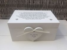 Shabby Personalised Chic Wedding Vows Renewal EXTRA LARGE Gift Memory Box